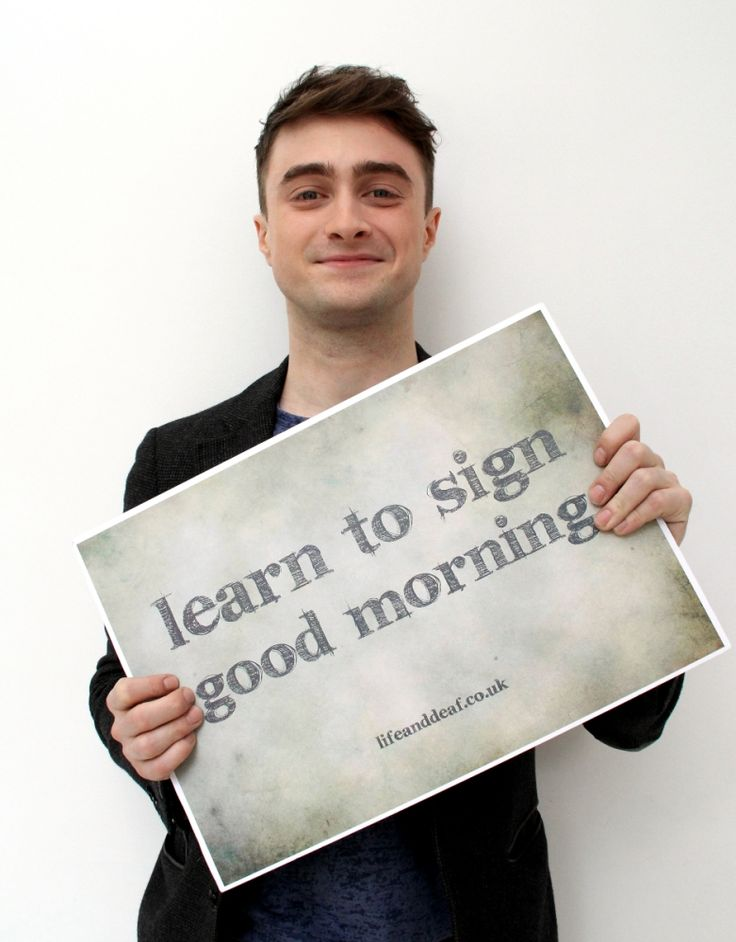 British celebs take part in the Sign Good Morning campaign, organised by the Life And Deaf Association, which aims to increase inclusion of deaf children in their communities.