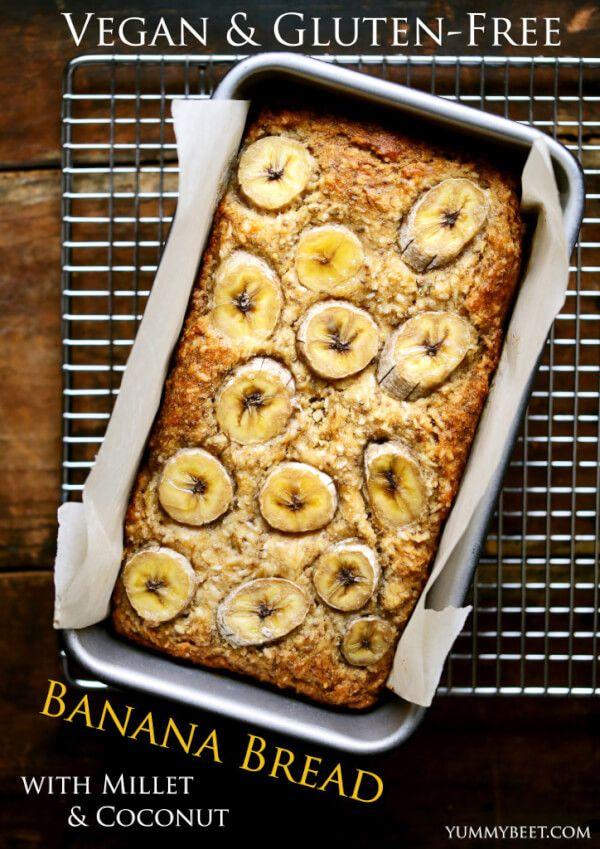 Gluten-Free Millet Coconut Banana Bread Recipe