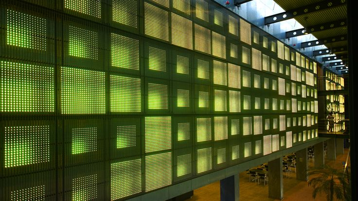 Martin Professional HQ in Aarhus, Denmark By Kollision  180m2 media facade with MP's LED Screen tech.