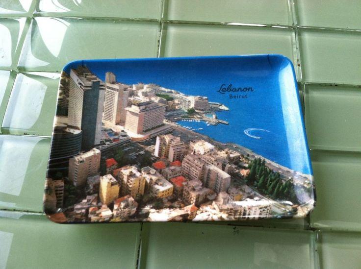 Beyrouth Melamine Sovenir Keys or  Ash Tray Plastic  Plate Lebanon Beirut