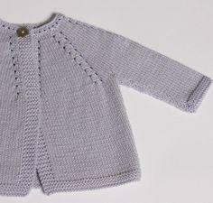 Baby Cardigan tejido en explicaciones por LittleFrenchKnits en Etsy