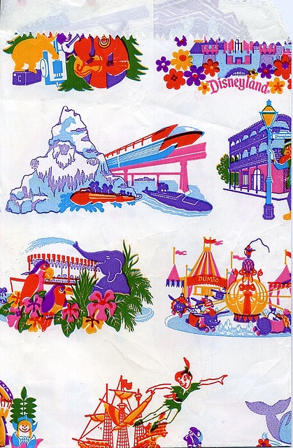 Vintage Disneyland shopping bag....not so Vintage really- I remember these from the mid-80s or so