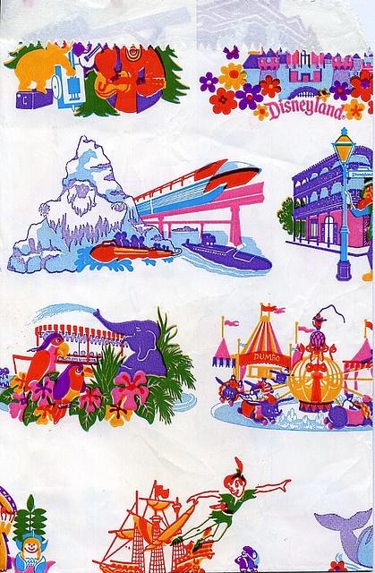 Vintage Disneyland shopping bag