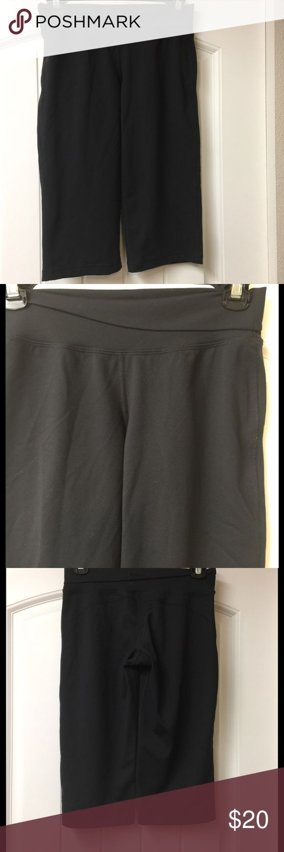 """Patagonia Pliant Knickers Long Shorts Black Yoga S Patagonia Black Pliant Knickers Long Shorts Yoga Size small.  Excellent pre owned condition.  Tagged S but please see measurements to ensure proper fit.  Measured flat unstretched.  Waist - 13"""", rise - 8"""", Inseam - 16"""".  See photos. Ask any questions before purchasing. Patagonia Pants Leggings"""