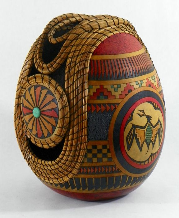 249 best beautiful gourd art images on pinterest gourd for Southwest arts and crafts