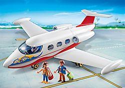 Avion avec pilote et touristes