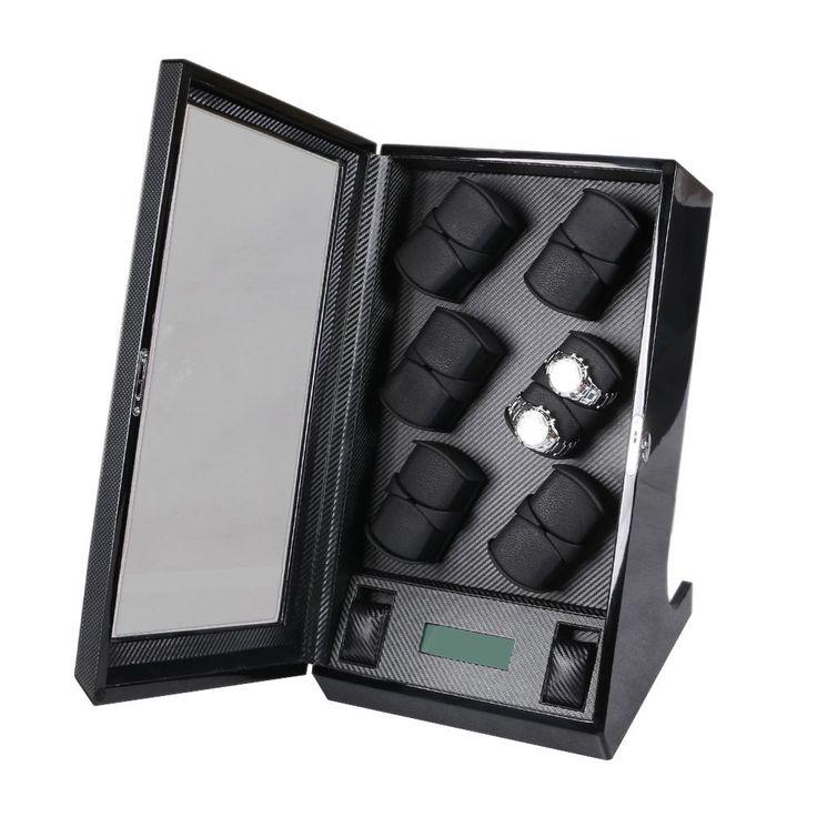 Automatic watch winder 12+2 LUXURY Chain winder case LCD control new Japan motor watch machine box