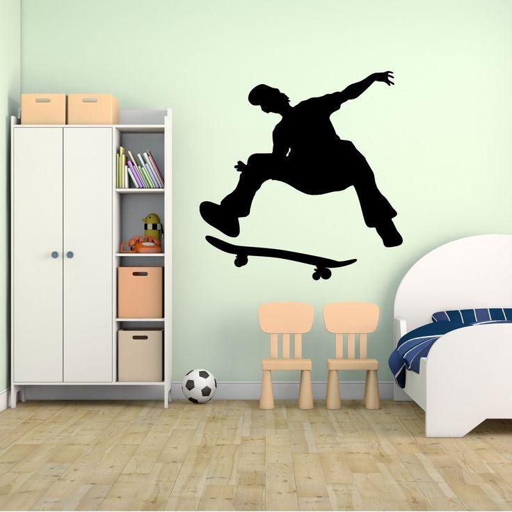 skateboarding wand aufkleber aufkleber 53 aufkleber aufkleber und wandbild fr kinder jungen mdchen und - Skateboard Regal Kinder Schlafzimmer