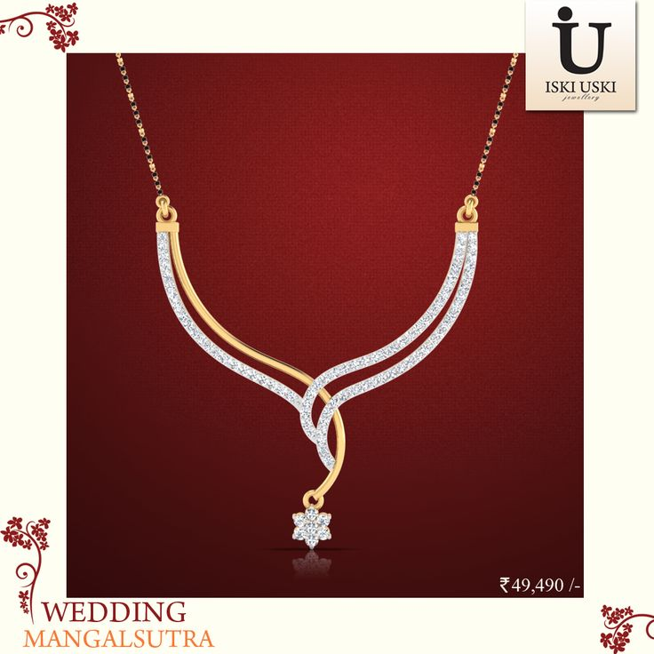 Our Arina Diamond Mangalsutra is the perfect gift for someone special.#mangalsutras #goldmangalsutra #diamondmangalsutra #IskiUski