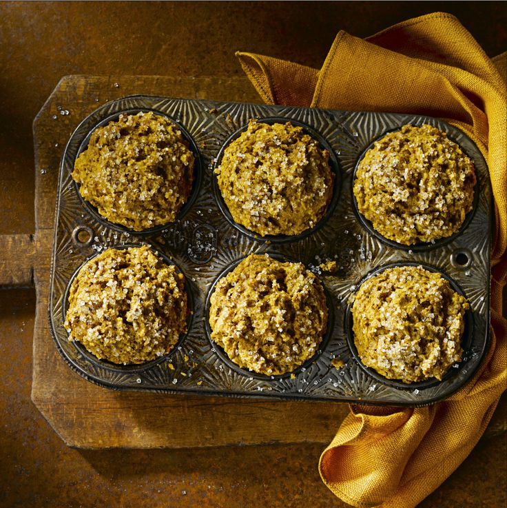 All-Bran™ Pumpkin Bran Muffins Recipe - Move over pumpkin pie, this might be the best way to enjoy pumpkin and spice. #AllBran #Recipe #Fibre #Pumpkin #PumpkinSpice #FallBaking
