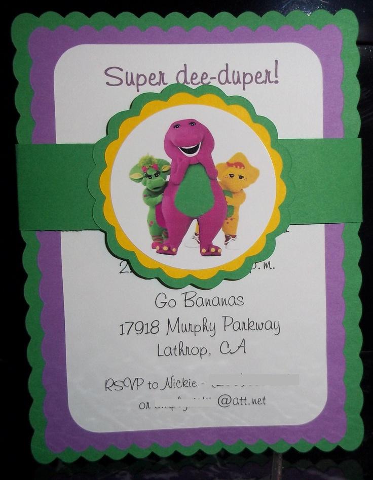 20 best Barney birthday images on Pinterest | Birthdays, Anniversary ...