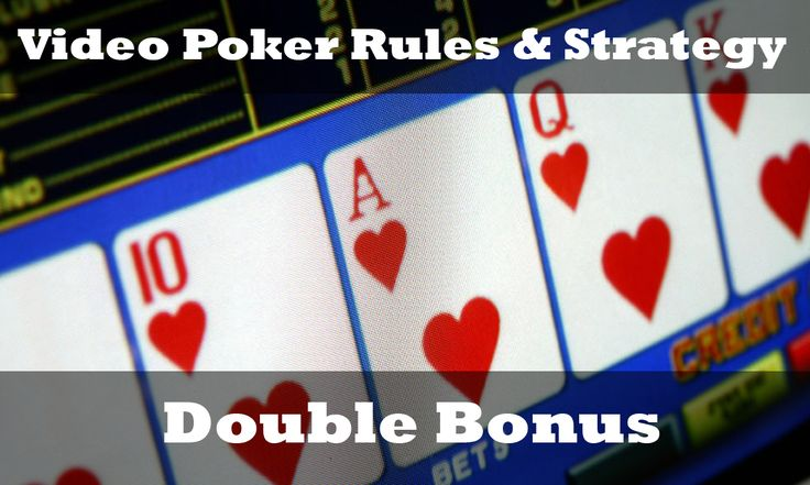 ♠️Double Bonus Rules & Strategy♣️ http://www.gamesandcasino.com/video-poker/strategy/double-bonus.htm #double #bonus #video #poker #strategy