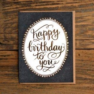 1Canoe2 Card Birthday Gold Foil