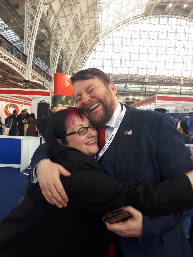 Mike Gillespie and Nicola Whiting reunited at ISE19 today
