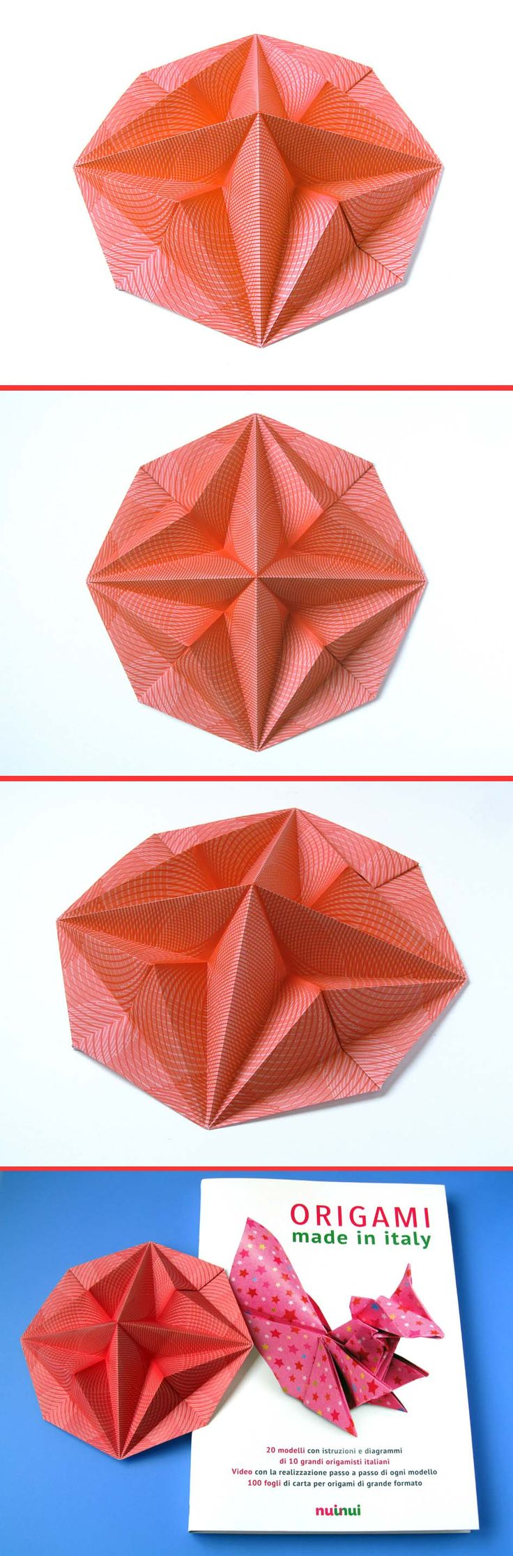 Stella in ottagono 2 - Octagonal Star 2: designed (August 2007) and folded by Francesco Guarnieri. From one uncut square of paper, 17,8 x 17,8 cm. Diagrams: Origami Made in Italy, NuiNui: http://www.nuinui.ch/book/origami-made-in-italy/?id=44 More information: http://guarnieri-origami.blogspot.it/2012/12/stella-in-ottagono-2.html