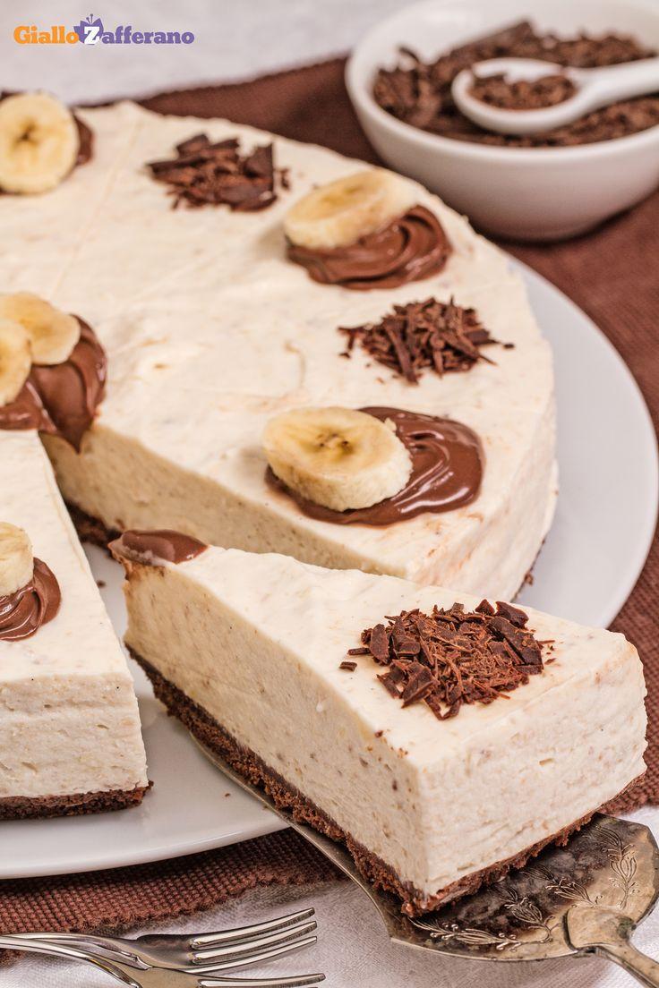 #CHEESECAKE BANANE e #CIOCCOLATO, una dolce coccola per ogni momento della giornata! #ricetta #GialloZafferano
