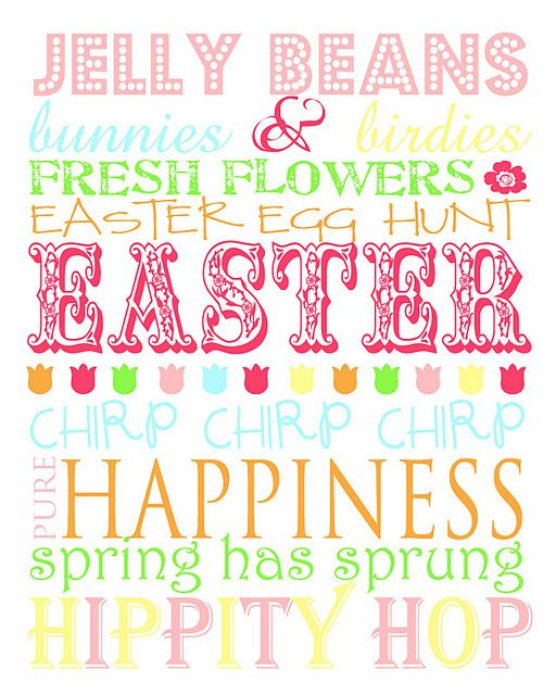 Just print this out and put it in a pretty frame, and walLA you have a beautiful Easter Decoration for any table.