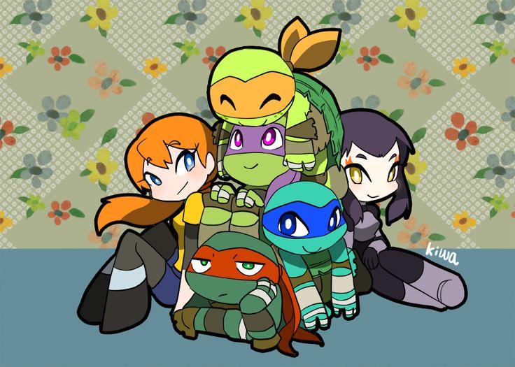 Teenage Mutant Ninja Turtles, Mikey and Raph tho.