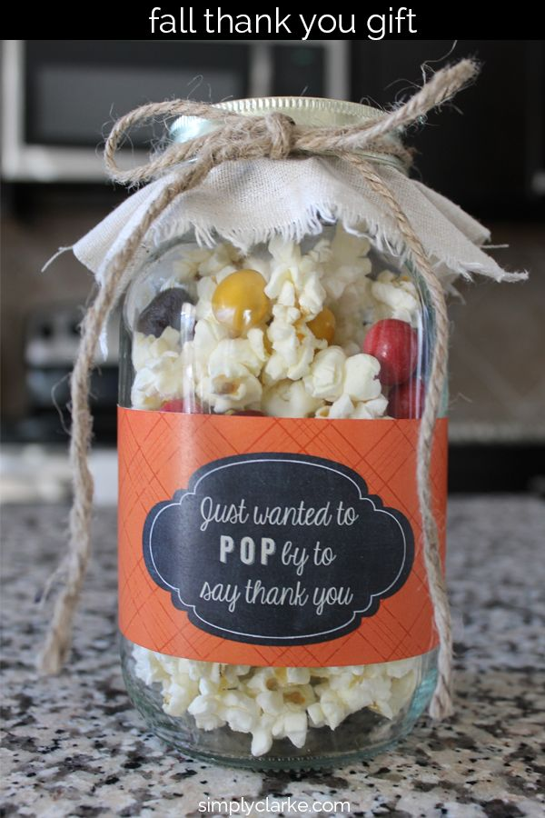 Low Calorie Popcorn Fall Gift Idea