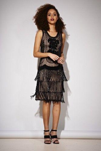 FAFAW1655 Sukienka wieczorowa #blackdress #eveningdress #glamour
