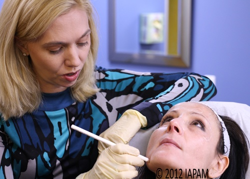 First step in Botox Training is making sure you inject in the right place! http://iapam.com/botoxtraining