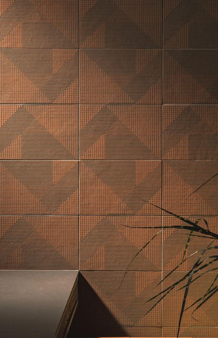 Wand- und Bodenbelag aus Feinsteinzeug TIERRAS INDUSTRIAL FRAME ASH Kollektion TIERRAS by MUTINA | Design Patricia Urquiola