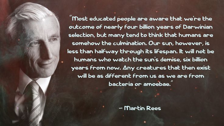 Martin Rees quote.
