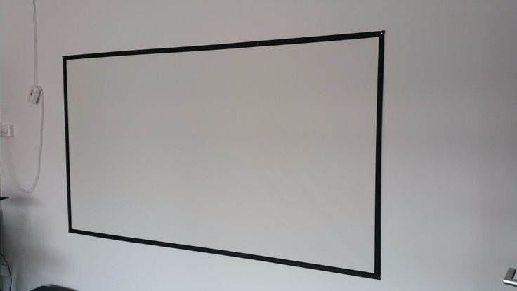 Flexible Cloth Simple Projector Screen 100inch and 16:9, Best for Portable Projectors
