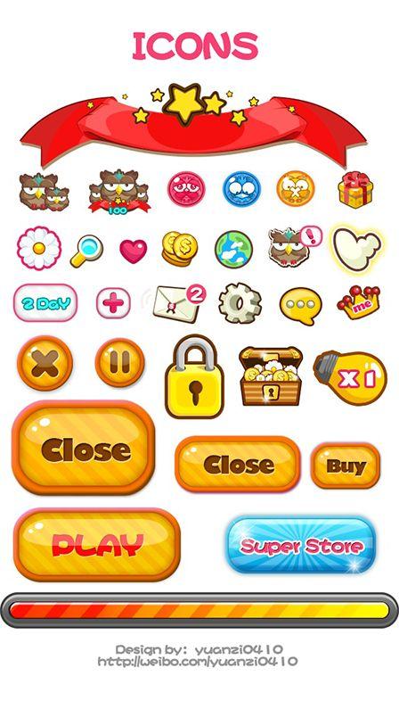 Bubble Owl~`手游美术UI整理...