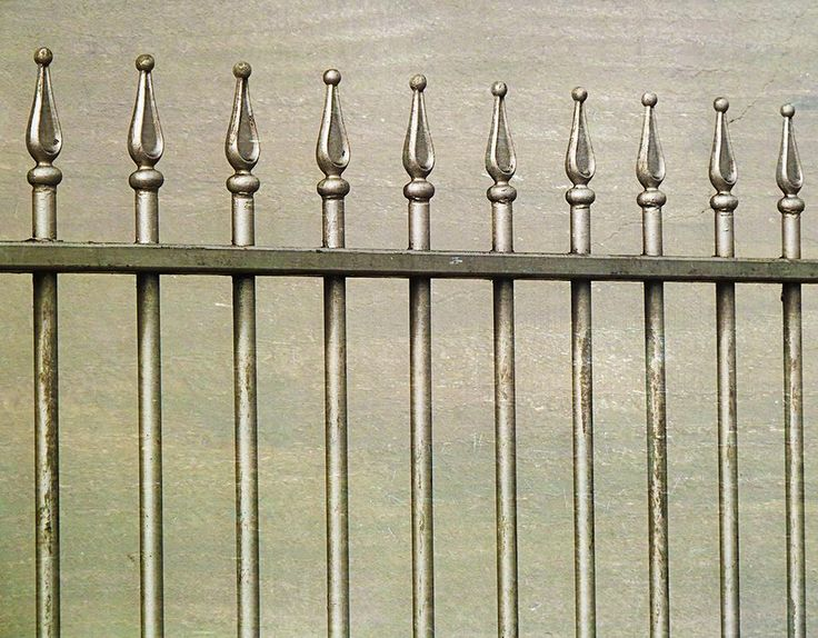 My photo of a  metallic fence in the center of Cork city.