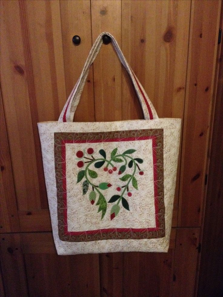 Summer bag with Heart Applique