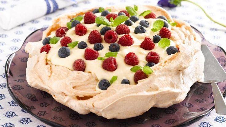 Oppskrift på dessert Pavlova