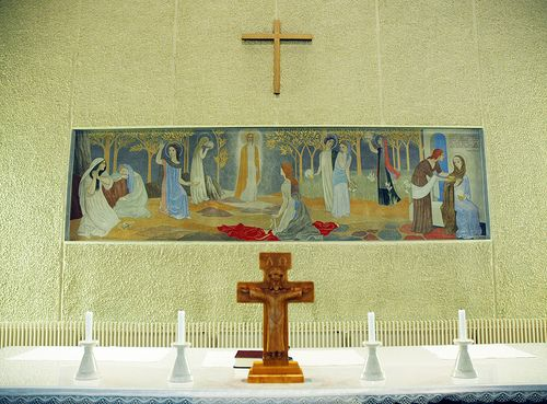 "Tove Jansson's only altarpiece ""the ten virgins"" @Teuva, Finland 1953"