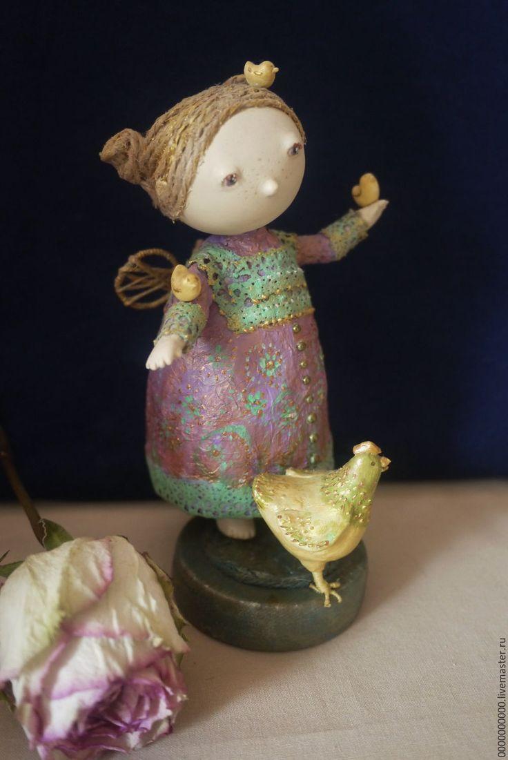 Купить Лина - сиреневый, ангел, ангелочек, ангел-хранитель, ангелок, кукла ручной работы, кукла