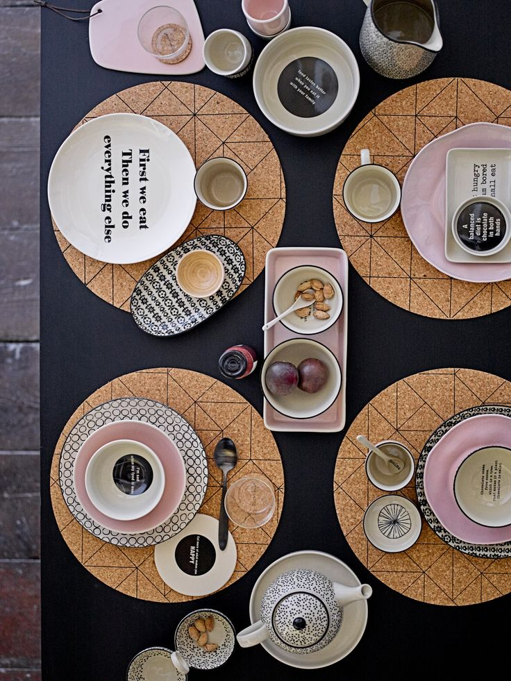 Tablesetting with Bloomingville styles - happy changes
