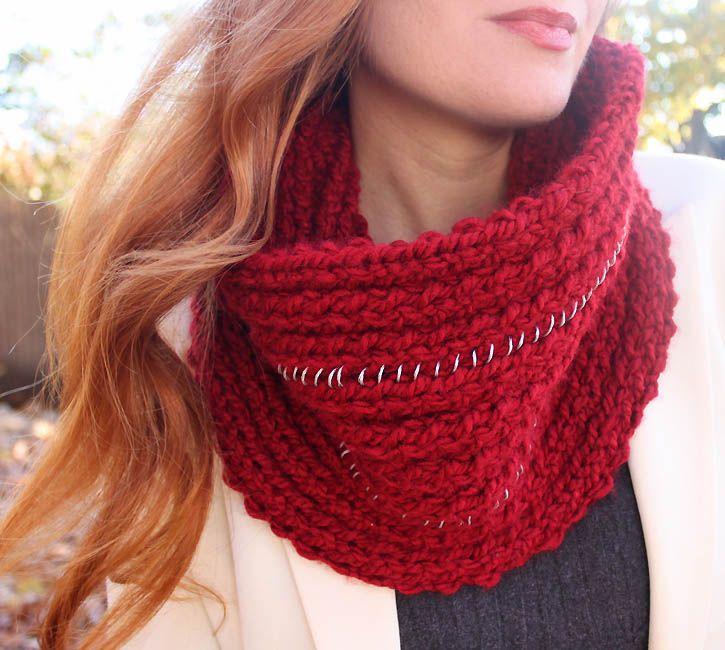 Michael Kors Chain Infinity Scarf [knitting pattern] (Gina Michele) Infinit...