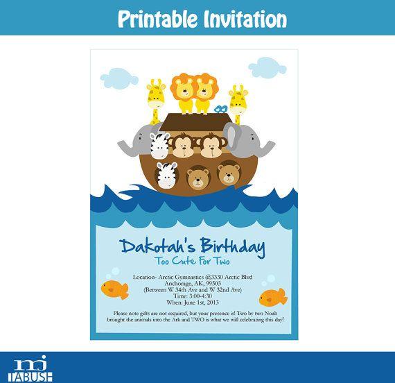 Noah's Ark Invitation by mjtabush on Etsy, $5.60