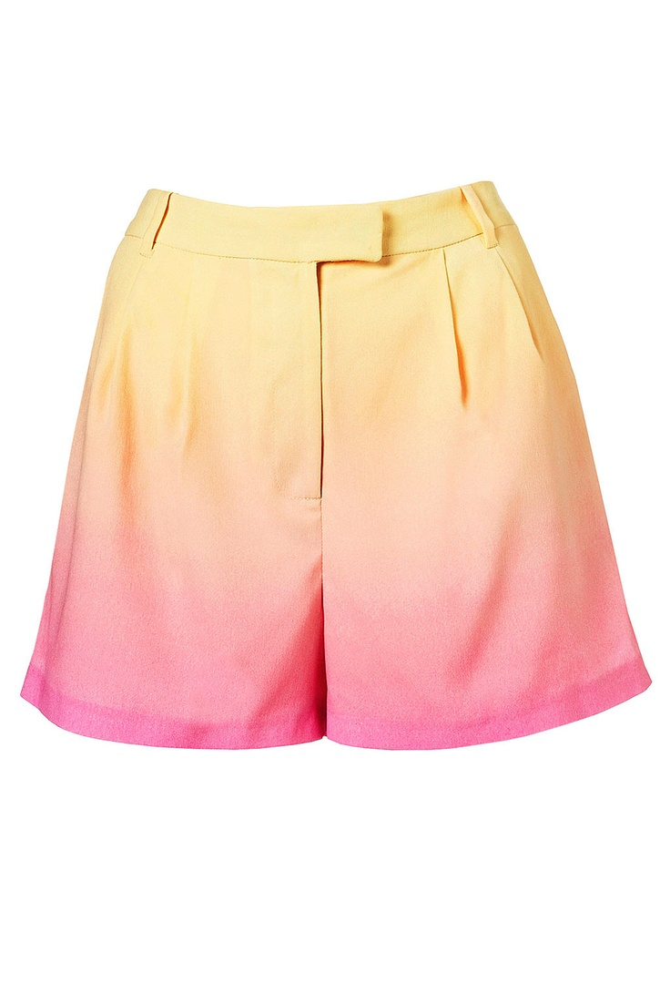 ombre shorts by topshop