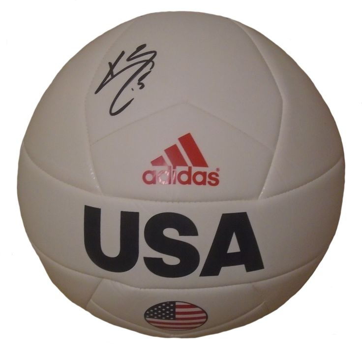Kyle Beckerman Autographed Adidas USA Logo White Soccer Ball, Proof Photo
