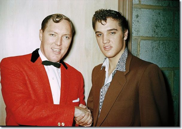 Bill Haley and Elvis Presley, 1955. The fathers of rock and roll.