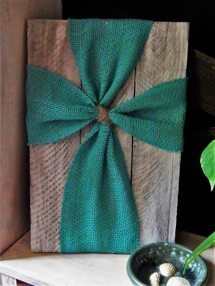 White washed Reclaimed wood with teal burlap cross. For Sale.https://www.facebook.com/Projects-by-Tanya-185255788487530/