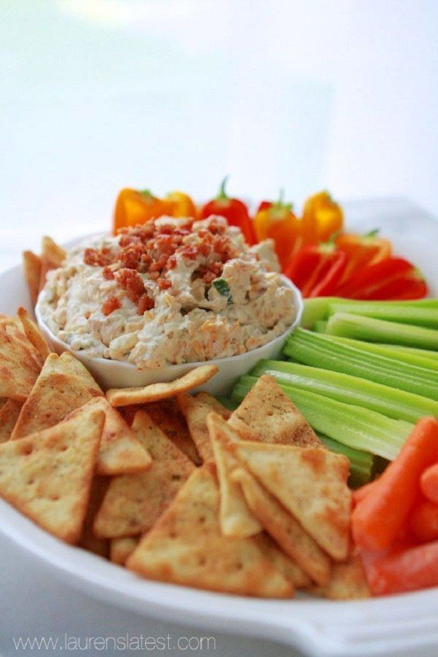 Labor Day Dip -Looking for the perfect dip to serve on your Labor Day cookout? This creamy and cheesy dip is just the thing for you! Serve this up with your favorite finger foods. It also has bacon bits in it for texture. Yes, it's so good.