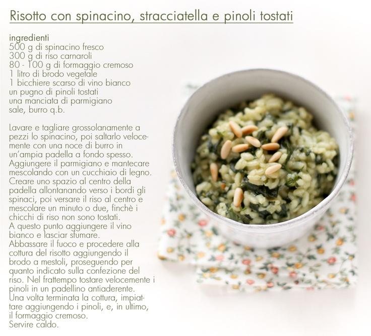 - VANIGLIA - storie di cucina: il risotto istantaneo di metà settimana: spinacino burro e parmigiano!