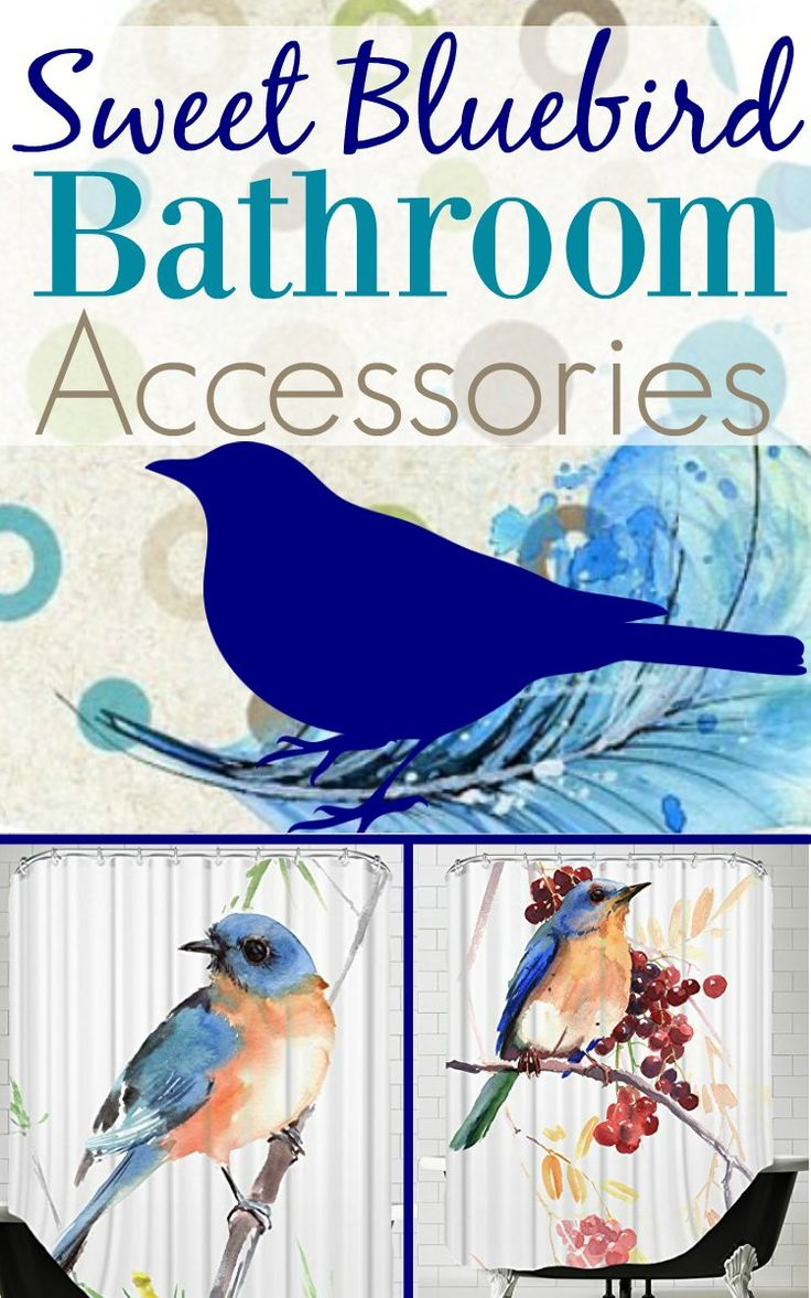 Blue bird bathroom accessories are great reminders that happiness is nearby. Decorating with bluebirds lifts our spirits and creates gorgeous rooms.