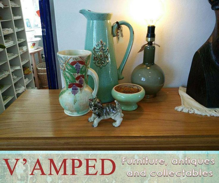 This lovely quirky selection of ceramics is now available at #VampedFurniture, and looking for the perfect home! Visit us in-store or contact Rory on 076 983 4008 for more information.