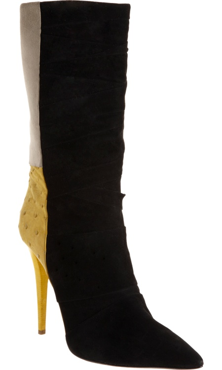 Narciso Rodriguez Colorblock Ostrich Combo Boot
