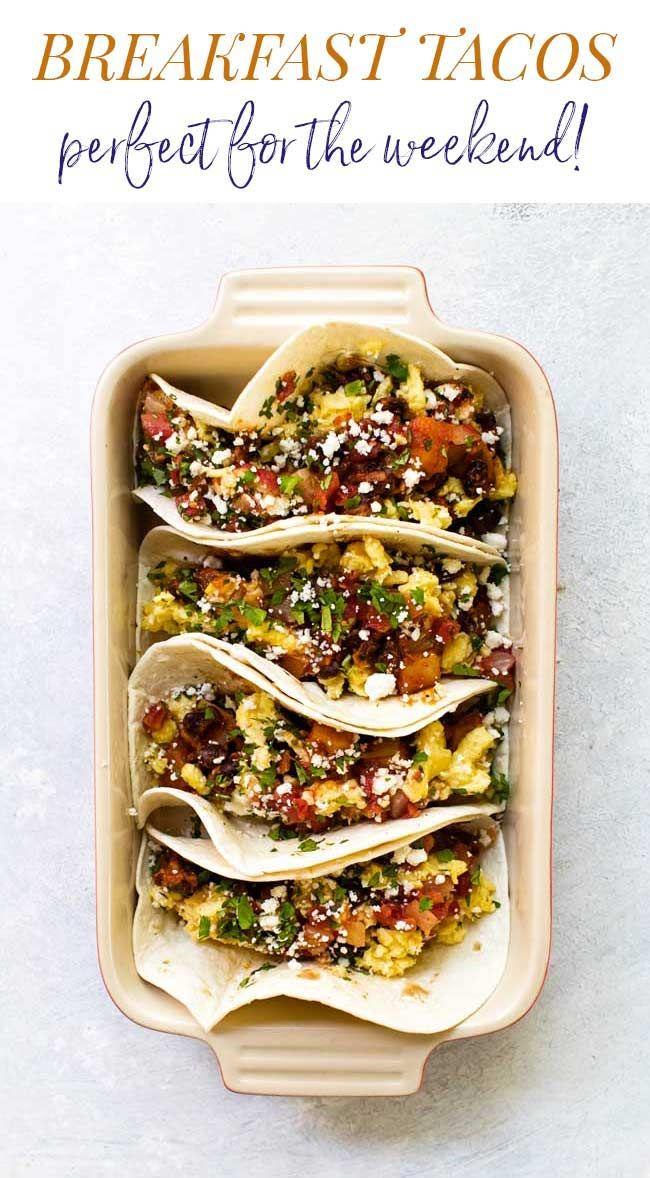 Fully Loaded Breakfast Tacos Recipe In 2020 Breakfast Tacos Best Egg Recipes Egg Recipes For Breakfast
