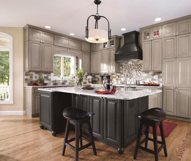 Grey Kitchen Cabinets With Black Appliances: 1000+ Ideas About Gray Kitchen Paint On Pinterest