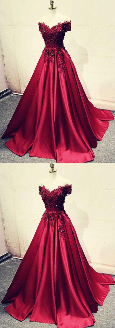 burgundy satin long prom/evening dress #prom #promdress #promdresses #eveningdress #eveningdresses