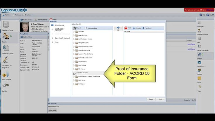 Create a proof of insurance id card using auto fill in cap